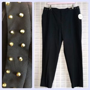 NWT Cato Studded Contemporary Slim Leg Trouser